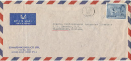 Ghana Air Mail Cover Sent To Holland Accra 15-11-1958 Single Stamp MAP (bended Cover ) - Ghana (1957-...)