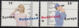 Nederland - Europa/CEPT: Kinderspelen - Jongen En Meisje Met Touwtjestelefoon - MNH - NVPH 1428-1429 - 1989