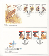 South Africa Bophuthatswana 112-115 Birds 133-136 Polio Measles Diphtheria Whooping Cough Day Issue Cancel 1983-85 A04s - Bophuthatswana