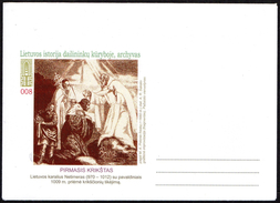 LITHUANIA - ENVELOPE -  LITHUANIAN HISTORY - ARTISTS' WORKS - LITHUANIAN KING NETIMERAS - Vecchi Documenti