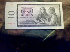 Billet De Banque De Tchecoslovaquie Do 10  Korun  NEUF TBE+ - Checoslovaquia