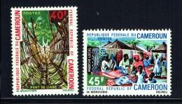 1971  Pont De Lianes Et Marché Local  ** - Cameroon (1960-...)