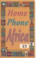 CARTE-PREPAYEE-GB-5£-I.T.S-HOME PHONE AFRICA-22/02/99-TBE - Royaume-Uni