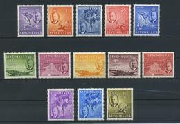 SEYCHELLES    1952    Various Designs    Short  Set  Of 13    MH - Seychelles (...-1976)