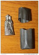 """WW1 - Statuette De Poilu """"Saint Anne D´Auray"""" Dans Sa Boite De Fer Blanc D´origine - Vierge De Poilus De Bretagne - WWI - Other"""