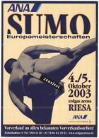 ANA Sumo Europameisterschaften - 2003 - Erdgas Arena RIESA - Cartoline