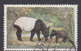 Thailand SG 914 1976 Protected Wild Animals 2 Bath Malayan Tapir Used - Thailand
