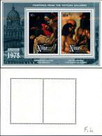 84461) Niue-1978- Quadri Della Galleria Vaticana-BF-n.4-nuovo - Niue