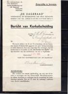 1939 Kerkafscheiding J.H.N. Grandia Overijselsestraat 133 Rotterdam De Dageraad (bc47) - Mededelingen