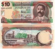 BARBADOS   10  Dollars    P68c   Signature  Warrell      2.5.2012   UNC - Barbados