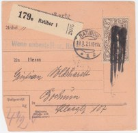 Oberschlesien MiNr. 27 In EF Auf Paketkarte Mit Tagesstempel U. Stummem Stempel (R759) - Coordination Sectors