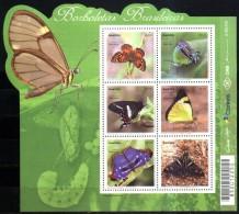 BRESIL BRASIL BRAZIL 2016 FAUNE PAPILLON BUTTERFLIES SCHMERTTERLINGE BLOC S/S MNH - Unused Stamps