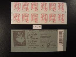 """2016  CARNET """"LA FETE DU TIMBRE"""" MARIANNE CIAPPA  SANS """"20g"""" LETTRE PRIORITAIRE VARIANTE DATE 18 10 16 En POSITION BASSE - Carnets"""