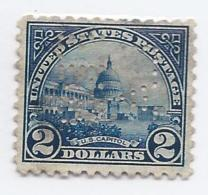 16383) USA 1923 Perfin - United States