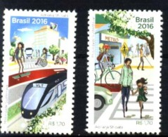 BRESIL BRASIL BRAZIL 2016 TRANSPORT,TRAIN METRO MNH - Unused Stamps