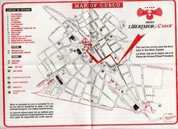 Plano/Mapa: MAPA DE CUSCO (PERU) - Informacion HOTEL LIBERTADOR DE CUSCO - Otras Colecciones