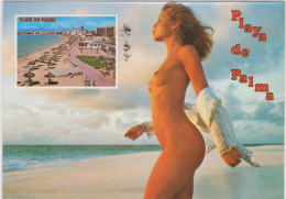 Naked Nu Naakt Vrouwelijk Schoon Nude Desnudo Playa De Palma SPanje Espana Fille Girl Seins Nus - Non Classés