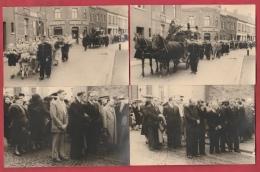 Funérailles, Entérement, Corbillard Tirè Par Des Chevaux- 11 Cartes Photos ... Région De Mons ( à Situer ) - Cartes Postales