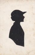 SILHOUETTE DECPOUPEE---jeune Femme Au Chapeau---voir 2 Scans - Silhouettes