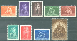 BELGIQUE - 1945 - MNH/***- LUXE - KRIJGSGEVANGENEN PRISONNIERS DE GUERRE - COB 701-709  Lot 14724 - Belgique
