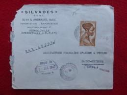 FRANCE COLONIES CACHET BRAZZAVILLE A E F PAR AVION 1947 - A.E.F. (1936-1958)