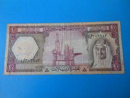 Arabie Saoudite Saudi Arabia 10 Riyals 1977 P.18 TB F - Arabie Saoudite