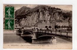 CPA-WX1072-GRENOBLE PONT DE LA PORTE DE FRANCE ET FORT DE RABOT - Grenoble