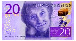 SWEDEN 20 KRONOR ND(2015) Pick 69 Unc - Sweden