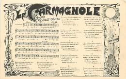 PARTITION MUSIQUE LA CARMAGNOLE CHANT REVOLUTIONNAIRE - Musique Et Musiciens
