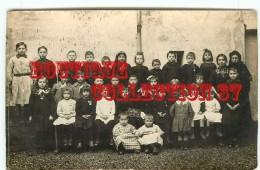 91 - ETIOLES - TRES RARE CARTE PHOTO De L´ECOLE Le 19-12-1915 - ECOLIERS ENFANTS < VOIR ARDOISE - Autres Communes