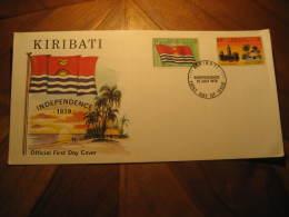 KIRIBATI 1979 Independence Flag Architecture 2 Stamp On FDC Cancel Cover - Kiribati (1979-...)