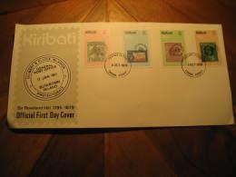 TARAWA 1979 Rowland Hill Gilbert & Ellice Islands Butaritari 4 Stamp On Stamp FDC Cancel Cover KIRIBATI - Kiribati (1979-...)
