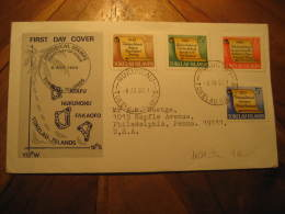 NUKUNONU 1969 To Philadelphia USA Yvert 16/9 4 Stamp Set On FDC Cover TOKELAU Islands - Tokelau