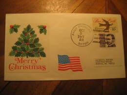 PAGO PAGO 1977 To Anderson USA 2 Stamp On Cover SAMOA - Samoa Américaine