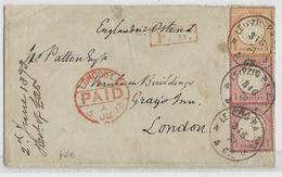 REICH - 1873 - ENVELOPPE De LEIPZIG Pour LONDON (GB)