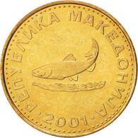 Macédoine, 2 Denari, 2001, FDC, Brass, KM:3 - Macédoine