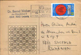 Germany/DDR - Printed Chess By Mail With A Special Cancellation - AGRA ' 79 In The 30th Year Of The Existence Of The GDR - DDR