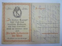 CARTE ALLEMANDE  :  Die Beste INFANTERIE Der WELT  1943   - Guerre 1939-45