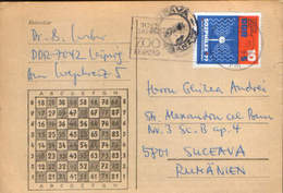 Germany/DDR - Printed Chess By Mail With A Special Cancellation - 100 Years ZOO Leipzig 1978 - DDR