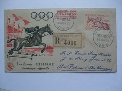 FRANCE 1953 PREMIER JOUR D`EMISSION FDC HELSINKI OLYMPICS SENT TO SPAIN - France