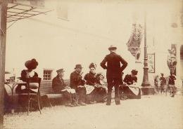 Photo Paris Exposition Universelle 1900 Coin Diner Repos - Lieux