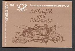 DDR **  MH 9 Angler Und Fischzucht Komplett Mit Marken - Booklets