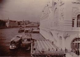 Photo Paris Exposition Universelle 1900 Debarcadere Des Bateaux  Pub Bière Dumesnil - Lieux