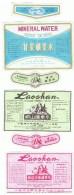 LOT DE 3 ETIQUETTES D'EAU PROVENANT DE CHINE- - Etiketten