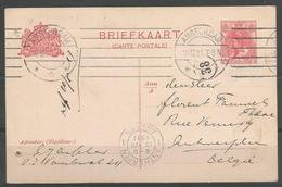 ENTIER POSTAL BRIEFKAART DES PAYS-BAS AVEC TP N° 51  (SCAN VERSO) - Postal Stationery