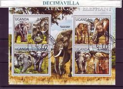 L798, UGANDA, 2012, ELEFANTES - Elefantes