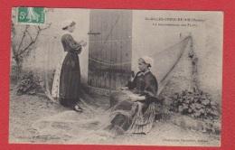 St Gilles  Croix De Vie  --- Le Raccommodage Des Filets - Saint Gilles Croix De Vie
