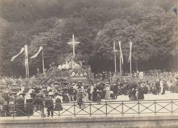 Photo Fête Dieu 1903 Reposoir Champ De Bataille Quimper Finistère Bretagne - Lieux