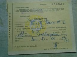D142109 Hungary  Receipt Állami Biztosító -Zalai György  1983 - Facturas & Documentos Mercantiles