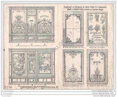 88 428 MENIL EN XAINTOIS Par GIRONCOURT VOSGES 19.. Publicité Vitrine Stores MINOUX Et MANGIN - France